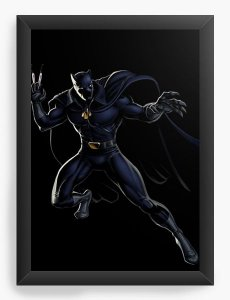 Quadro Decorativo Pantera Negra
