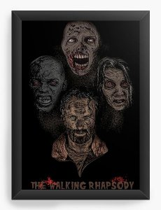 Quadro Decorativo The Walking Dead - Nerd e Geek - Presentes Criativos