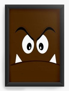 Quadro Decorativo A4 (33X24) Goomba - Nerd e Geek - Presentes Criativos