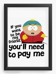Quadro Decorativo A4 (33X24) South Park - Nerd e Geek - Presentes Criativos