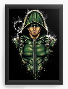 Quadro Decorativo A4 (33X24) Arrow - Nerd e Geek - Presentes Criativos