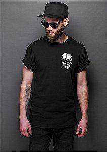 Camiseta Masculina  Skull Bolso - Nerd e Geek - Presentes Criativos