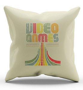 Almofada Decorativa  Video Games 45x45 - Nerd e Geek - Presentes Criativos
