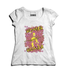 Camiseta Feminina Homer Simpson - Nerd e Geek - Presentes Criativos
