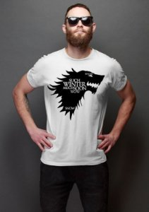 Camiseta Masculina  Game of Thrones Winter - Nerd e Geek - Presentes Criativos