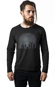 Camiseta Manga Longa Familia Star Wars