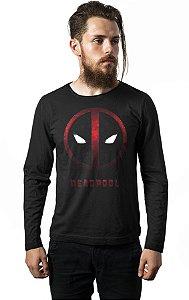 Camiseta Manga Longa Deadpool Face