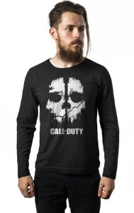 Camiseta Masculina  Manga Longa Call of Duty - Nerd e Geek - Presentes Criativos