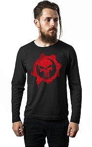 Camiseta Manga Longa Gears of War