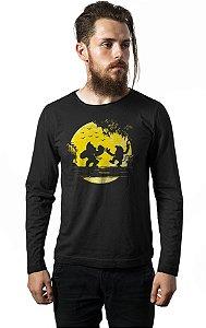 Camiseta Masculina  Manga Longa Donkey Kong - Nerd e Geek - Presentes Criativos