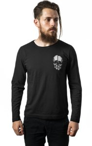 Camiseta Masculina  Manga Longa Caveira Bolso - Nerd e Geek - Presentes Criativos