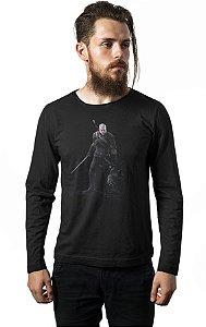 Camiseta Masculina  Manga Longa The Witcher 3  - Nerd e Geek - Presentes Criativos