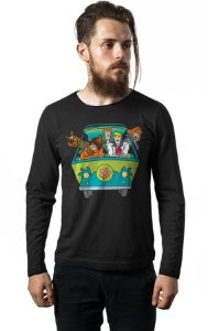 Camiseta Masculina  Manga Scooby - Doo - Nerd e Geek - Presentes Criativos