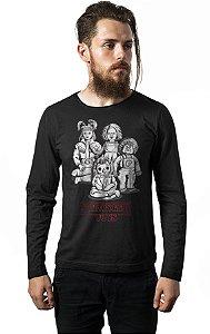 Camiseta Masculina  Manga Longa Stranger Toys - Nerd e Geek - Presentes Criativos