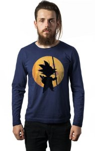 Camiseta Masculina  Manga Longa Goku Dragon Ball - Nerd e Geek - Presentes Criativos