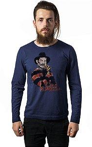 Camiseta Masculina  Manga Longa Seu Madruga - Pesadelo - Nerd e Geek - Presentes Criativos