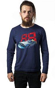 Camiseta Masculina  Manga Longa De Volta para o Futuro - Nerd e Geek - Presentes Criativos