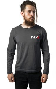 Camiseta Masculina  Manga Mass Effect  - Nerd e Geek - Presentes Criativos