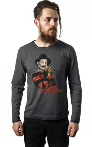 Camiseta Masculina  Manga Longa Seu Madruga - Chaves - Nerd e Geek - Presentes Criativos