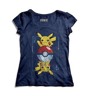 Camiseta Feminina Pikachu - Pokemon
