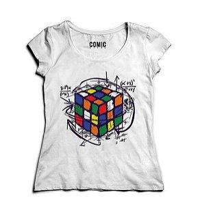 Camiseta Feminina Cubo Magico - Nerd e Geek - Presentes Criativos