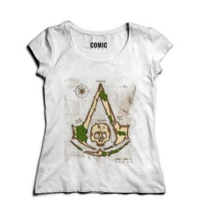 Camiseta Feminina Assassin Creed  - Nerd e Geek - Presentes Criativos