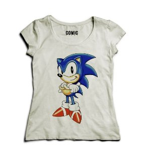 Camiseta Feminina Sonic - Nerd e Geek - Presentes Criativos