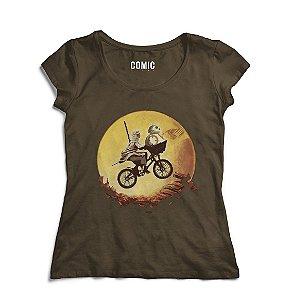Camiseta Feminina Rey e bb-8