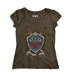 Camiseta Feminina The zelda - Link - Nerd e Geek - Presentes Criativos