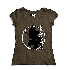 Camiseta Feminina Goku - Dragon - Nerd e Geek - Presentes Criativos