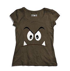 Camiseta Feminina Goomba  - Nerd e Geek - Presentes Criativos