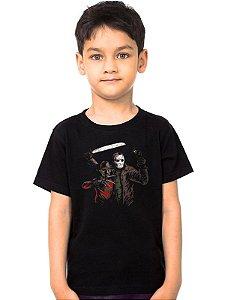 Camiseta Infantil Jason e Freddy - Nerd e Geek - Presentes Criativos