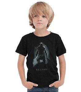Camiseta Infantil Skyrim - Nerd e Geek - Presentes Criativos