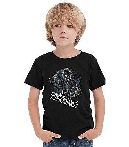 Camiseta Infantil Edward - Mãos de tesoura - Nerd e Geek - Presentes Criativos