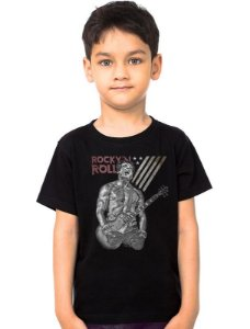 Camiseta Infantil Rock Roll - Nerd e Geek - Presentes Criativos