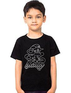 Camiseta Infantil Super Mario Fase - Nerd e Geek - Presentes Criativos