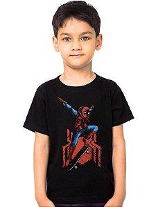 Camiseta Infantil Homem Aranha - Skate