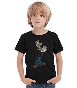 Camiseta Infantil Marinheiro Popeye