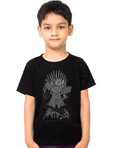 Camiseta Infantil Pikachu - Game of Thrones - Nerd e Geek - Presentes Criativos