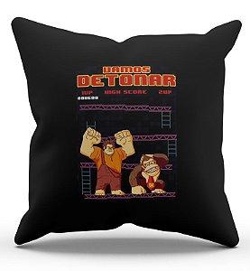 Almofada Decorativa  Donkey Kong 45x45 - Nerd e Geek - Presentes Criativos