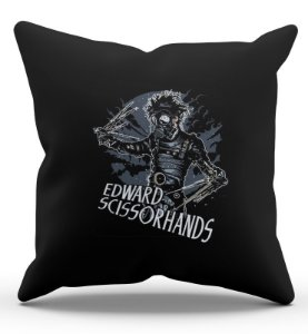 Almofada Decorativa  Edward - Mãos de tesouras 45x45 - Nerd e Geek - Presentes Criativos