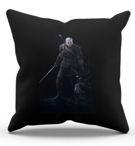 Almofada Decorativa   The Witcher 3  45x45 - Nerd e Geek - Presentes Criativos