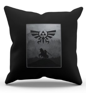 Almofada Decorativa  The Legend Zelda 45x45 - Nerd e Geek - Presentes Criativos