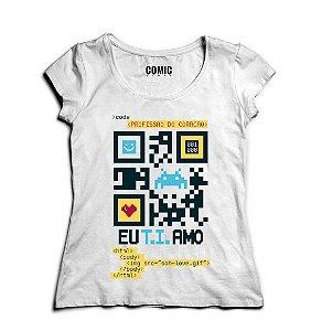 Camiseta Feminina Code  - Nerd e Geek - Presentes Criativos