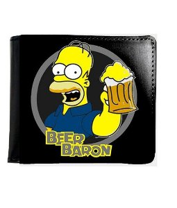 Carteira Simpsons Beer Baron - Nerd e Geek - Presentes Criativos