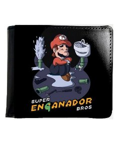 Carteira Super Mario Enganador Bros - Nerd e Geek - Presentes Criativos