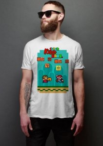 Camiseta Masculina  Super Kidd Bros - Nerd e Geek - Presentes Criativos