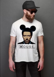 Camiseta Masculina   Dr House: Mouse - Nerd e Geek - Presentes Criativos