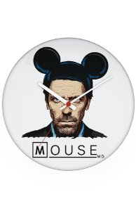 Relógio de Parede Dr House: Mouse - Nerd e Geek - Presentes Criativos