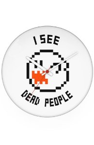 Relógio de Parede I see dead people - Nerd e Geek - Presentes Criativos